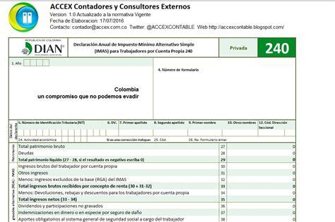 ACCEX: Formulario 240 Excel Declaración Anual de
