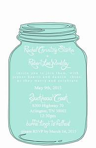 Mason jar free printable wedding invitations templates for Mason jar beach wedding invitations