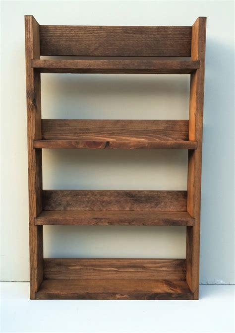 Rustic Spice And Herb Rack Open Top Dark Oak 5 Shelf