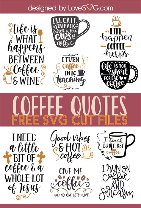 With our selection of coffee mugs with sayings, you'll find a mug that you'll love to use daily. Pin on Free Funny Quotes SVG Cut Files | LoveSVG.com