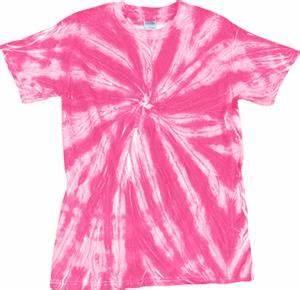 Dyenomite Neon Pink Pinwheel Tie Dye Tee Shirts Soccer