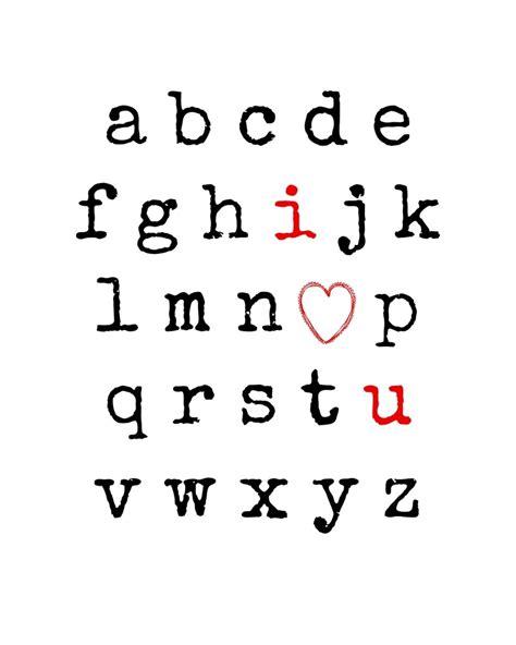 I Love You Alphabet {free Printable}  Endlessly Inspired