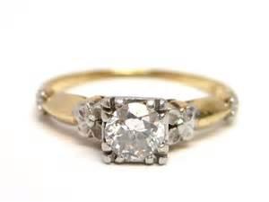 deco platinum 14k gold engagement ring from stjohnandmyers on ruby
