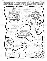Pirate Treasure Map Printable Maps Coloring Activity Pdf Crafts Chest sketch template