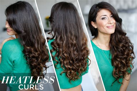Heatless Curls Hair Tutorial Latest Mens Hairstyles Winter 2016 Short Hair Stacked Back View Indian Boy Images Top Knot For Long Thin Put Up How To Do Cute Loose Curls On Curly Brown With Red And Blonde Highlights Ombre Weave
