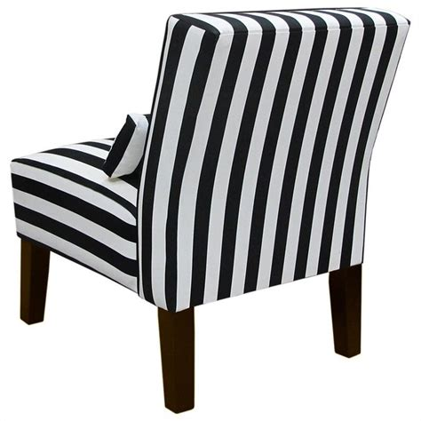 skyline furniture slipper chair in black and white