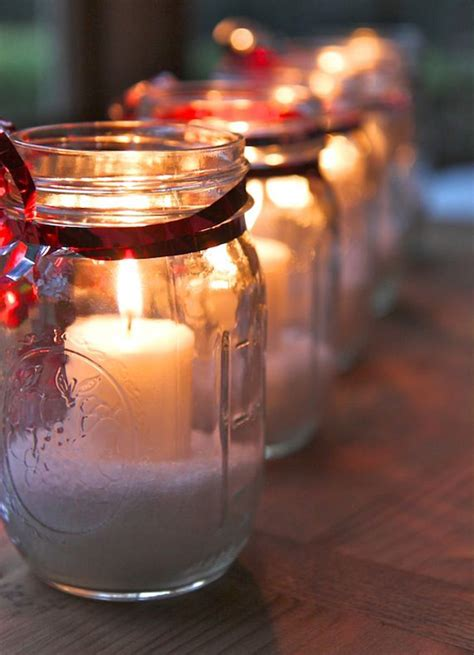 candles for christmas table 25 cool diy mason jar christmas ideas home design and