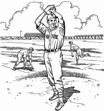Coloring Mets Baseball Pages York Pitcher Yankees