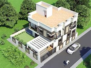Proposed Two Storey House With Top View Home Design