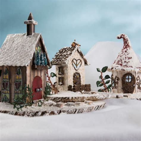 fairy garden diy snow village favecraftscom