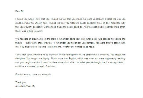 write  good  touching   letter  teacher