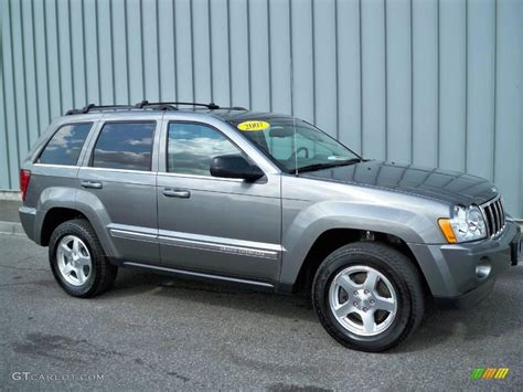 jeep gray color 2007 mineral gray metallic jeep grand cherokee limited 4x4