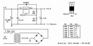 Variable Voltage Regulator With Lm317t