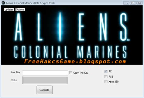 aliens colonial marines beta keygenkey generator