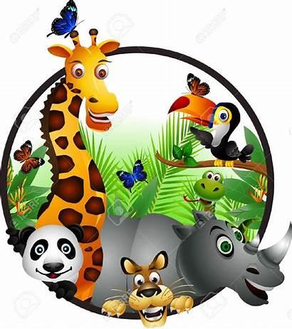 Cartoon Clipart Jungle Animals Safari Clipartmag