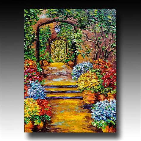 B Sasik New Orleans Original Oil Painting Secret Garden