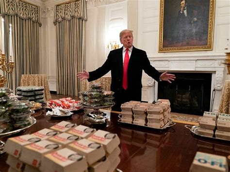 Donald Trump Buys Fast Food Spread For Clemson Football
