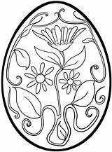 Easter Egg Coloring Printable Pages Getcolorings sketch template
