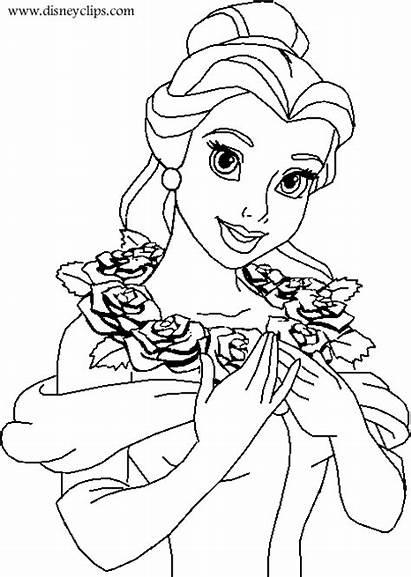 Disney Princess Coloring Belle Pages Kentscraft Labels