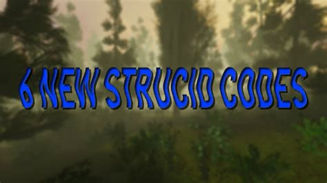 exclusive codes  strucid roblox youtube