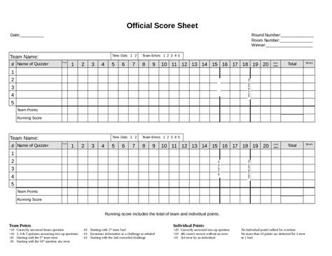 score sheet fillable printable  forms handypdf
