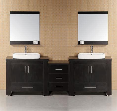 96 Inch Modern Double Vessel Sink Bathroom Vanity Set