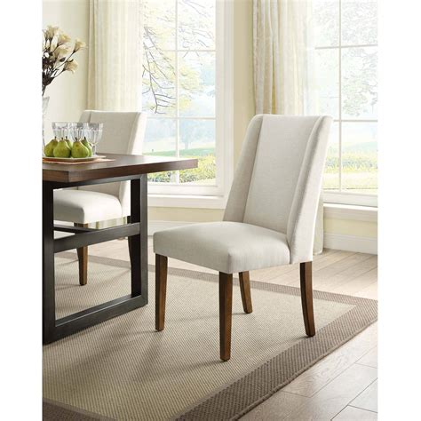 dorel living linen parsons chair set of 2 pine with