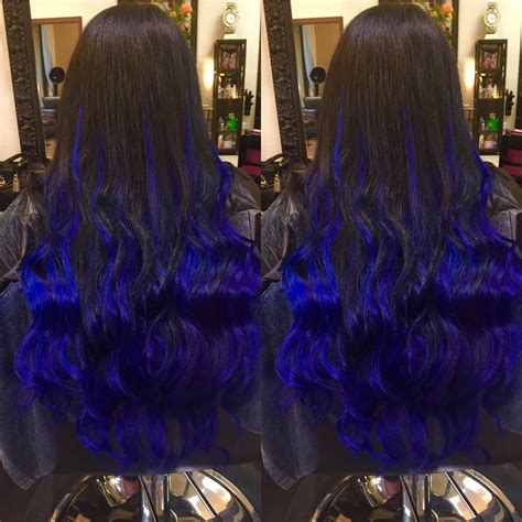 Black And Blue Hair Colors Ideas