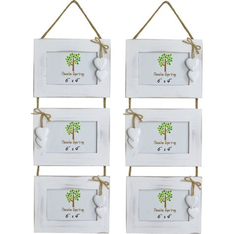 Handmade from driftwood, it fills your space with maximum durability and style. White Wooden Shabby Driftwood Triple Hanging White Hearts ...
