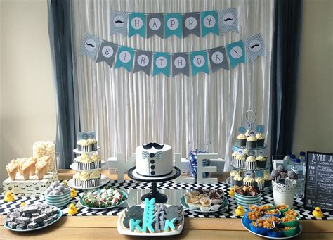 A Little Man's First Birthday Party  My Party Design