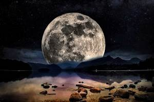 Clipart - Moonlight Landscape