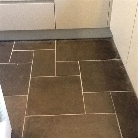 grout haze trapped under sealed slate tiles in woburn