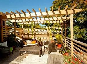 brise vue balcon 50 exemples fascinants en bois et bambou With katzennetz balkon mit garde meuble lyon