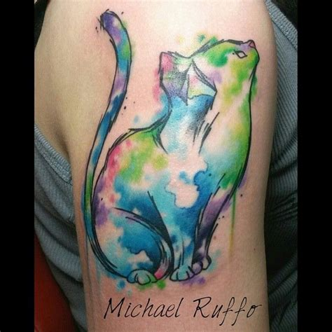 1000+ Ideas About Watercolor Cat Tattoo On Pinterest Cat