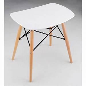 Tabouret style Eames DSW en bois Drawer