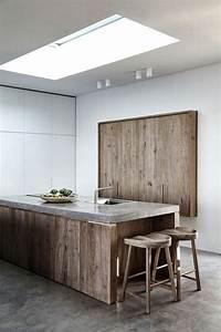Ilot Central Bois : la cuisine quip e avec lot central 66 id es en photos ~ Teatrodelosmanantiales.com Idées de Décoration