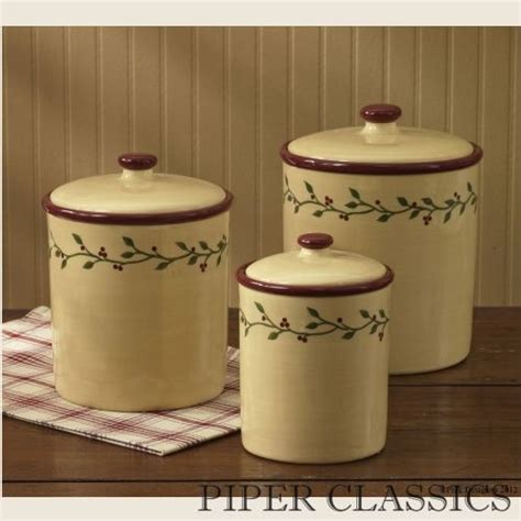 Designer Kitchen Canisters by Thistleberrycansisterset Thistleberry Canister Set