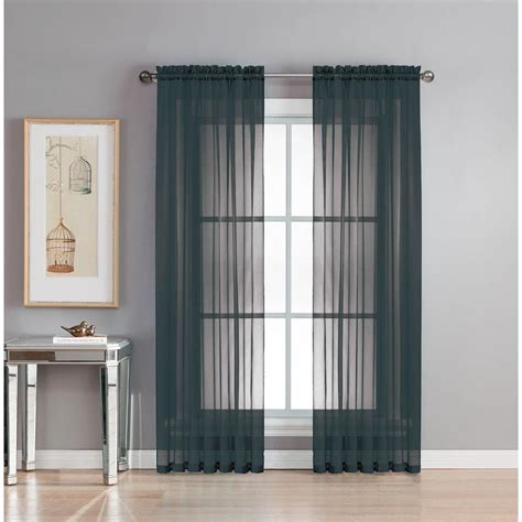 Window Elements Sheer Diamond Sheer Voile Extra Wide 84 In
