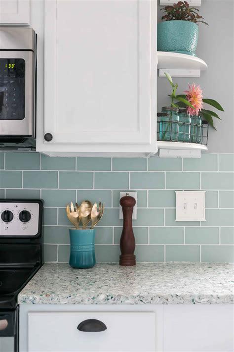 hang  tile bar glass subway tile kitchen backsplash