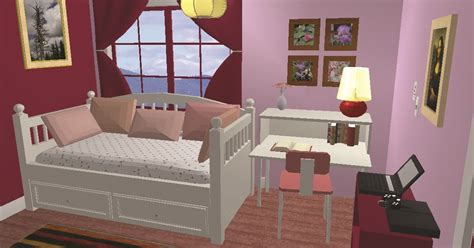 kontentika desain feminim  kamar tidur sempit
