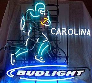 Carolina Panthers Football neon Bud Light MOTION Neon beer