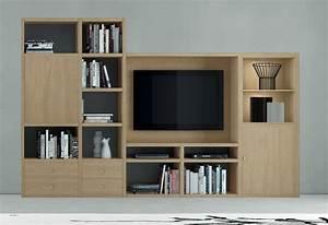 Bücherwand Mit Tv : wohnwand b cherwand mediawand eiche natur ~ Michelbontemps.com Haus und Dekorationen