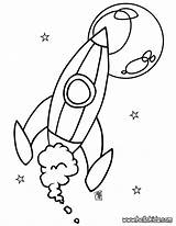 Spaceship Coloring Pages Space Print Hellokids sketch template
