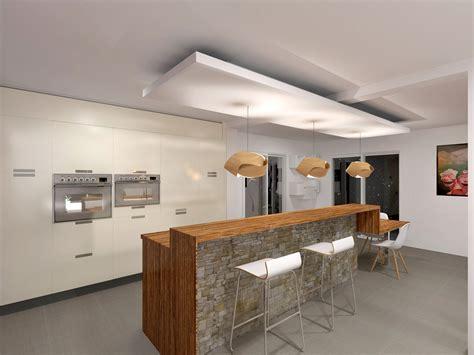 faux plafond cuisine design faux plafond design cuisine isolation idées