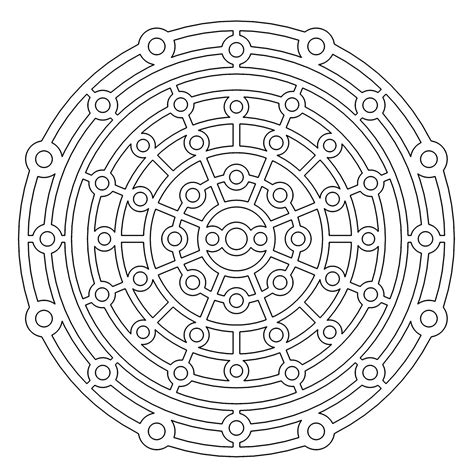 Kleurplaat Slot by Slot Maze Redux Geometry Coloring Pages Jpg Do It With