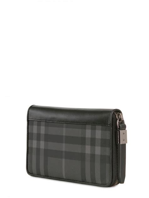 burberry long zip  wallet  black  men lyst