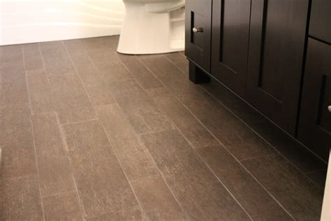 Tile That Looks Like Wood Planks With Brown Color In Small