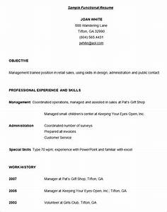Functional resume template 15 free samples examples for Functional resume sample template