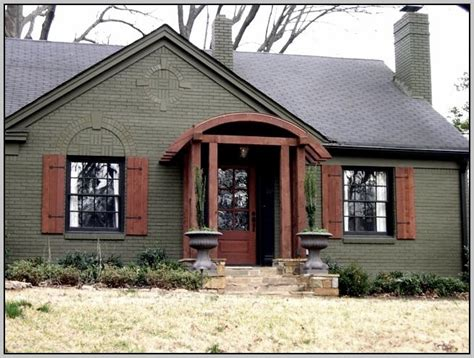 exterior paint colors brick and photos