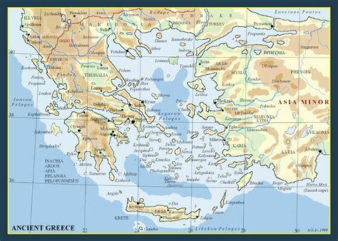 metron ariston maps  ancient greece